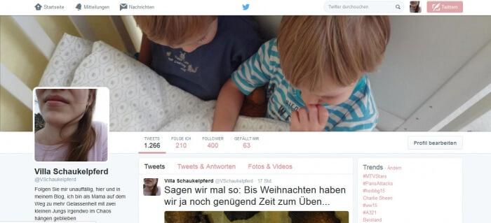 Villa Schaukelpferd Twitter