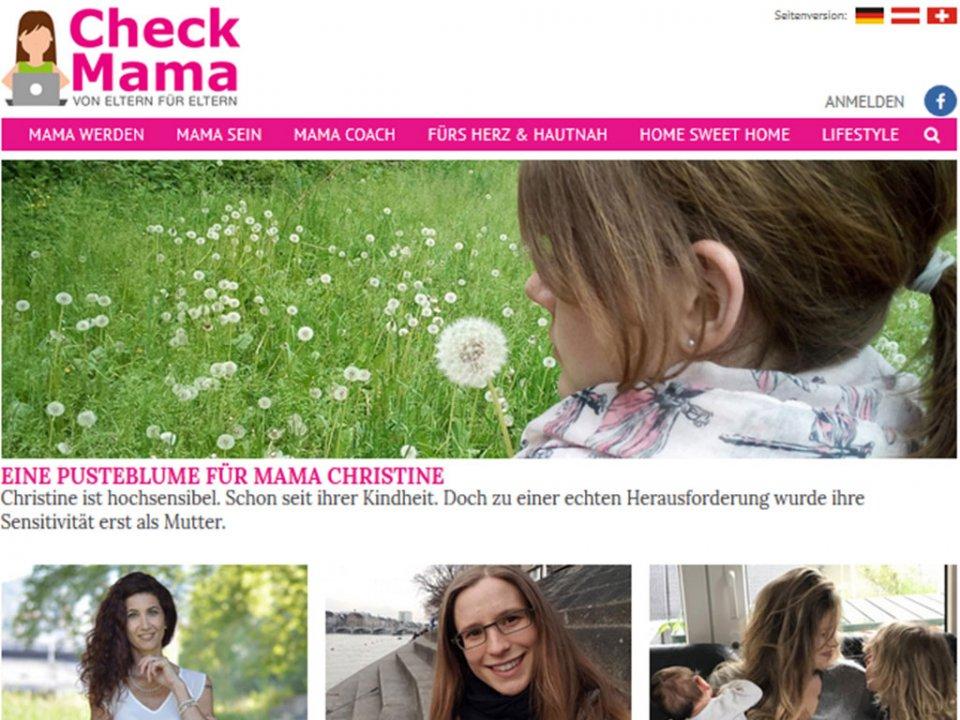 Ich bin Mama der Woche bei Checkmama